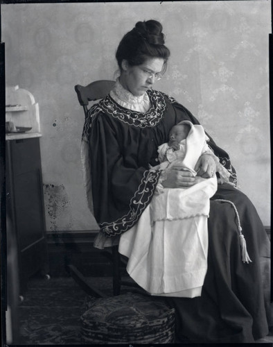 Mary Dozier with baby