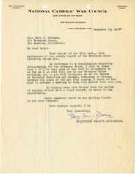 Mary Young Moore letter to Mary J. Workman, 1919 December 15