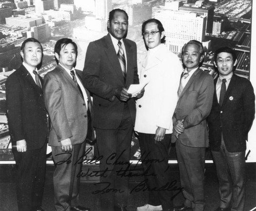 Members of the Asian Commission with Tom Bradley