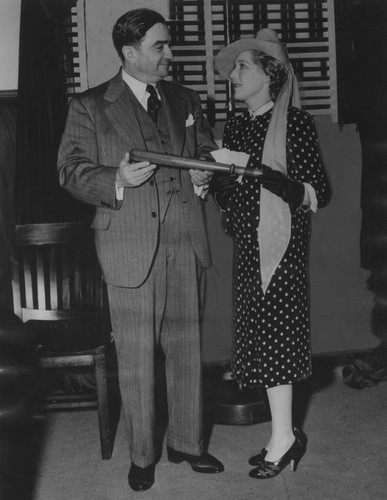 Sheriff Biscailuz and Mary Pickford