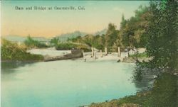 Dam and bridge at Guerneville, California on the Russian River