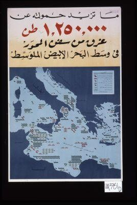 Over 1,250,000 tons of Axis shipping sunk in the central Mediterranean ... [in Arabic]