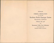 [Program for dedication of Southern Pacific Railroad passenger station]