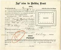 Application for Building Permit for E. D. Bray