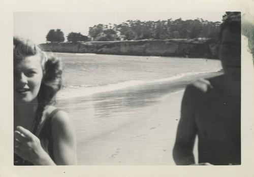 Barbara Merrell, Harry Mayo at Cowell Beach
