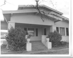 1930 California bungalow house in the Parquet Addition, at 6681 Sebastopol Avenue, Sebastopol, California, 1993
