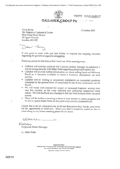 [ A letter from Jeff Jeffery to Terry Byrne regarding the growth of cigarette smuggling]