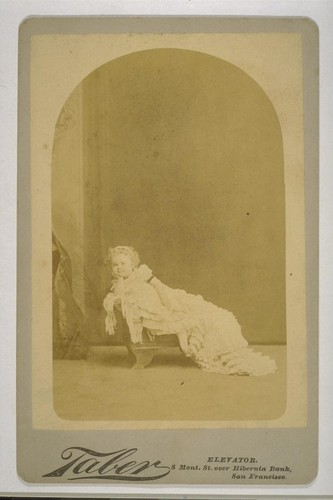 [Portrait of Louise Taber as child? Photograph by Isaiah West Taber.]