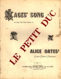 Pages' song : as sung with great success in Le Petit Duc