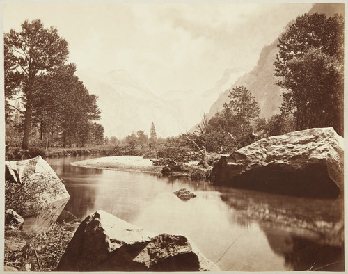 [Half Dome, from the Valley Floor, Merced River in the foreground], no. 20