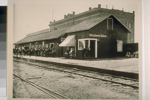 Calisphere: Southern Pacific Railroad Station at Third and
