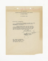 Letter from Alfred J. Bolton to Isidore B. Dockweiler, October 25, 1943