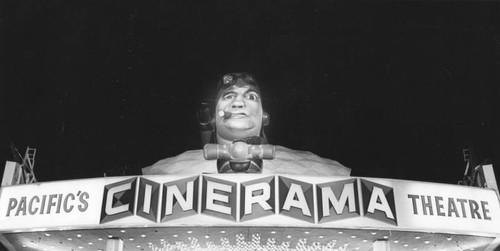 Calisphere: Display on top Pacific's Cinerama Theatre
