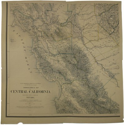 Calisphere: Topographical map of Central California…