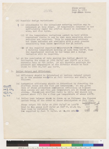 Outline of Test Program, page 3, 1953