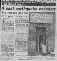 A post-earthquake economy
