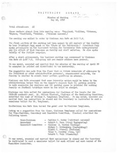 USC Faculty Senate minutes, 1955-05-18