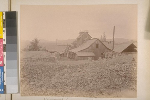 Chavanne's house and hoisting works (West Side). Sheep Ranch (Calaveras Co.). [No.] 15