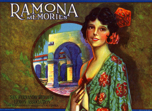 Ramona Memories Lemon Crate Label
