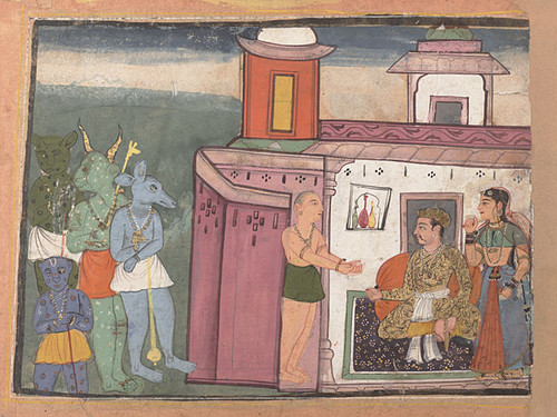Kansa, the king of Mathura orders demons into his presence