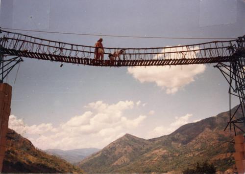 Calisphere: Production still P1 from suspension bridge
