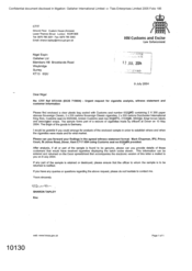 [Letter from Sharon Tapley to Nigel Espin regarding urgent request for cigarette analysis]