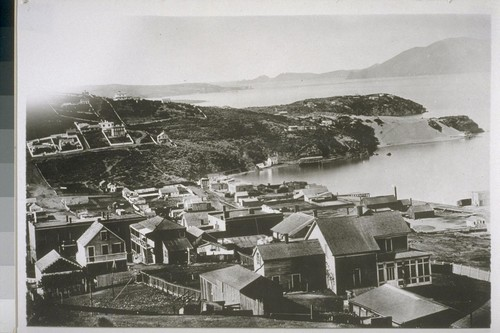 Black Point from the western slope of Telegraph Hill. Ca. 1860