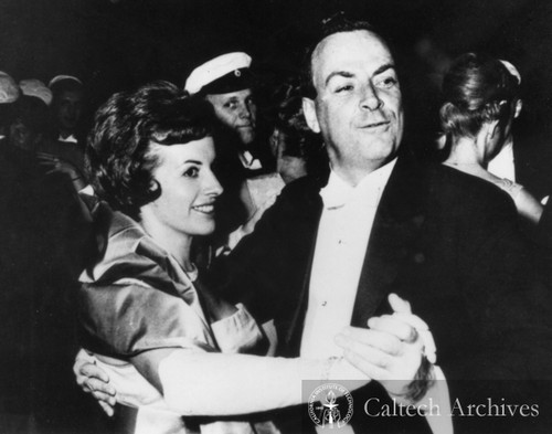 Richard and Gweneth Feynman at Student's Ball at Stockholm University