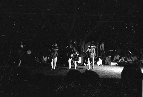 Hupa Dancers at the AIEA Indian Conference Meeting at Chico--1969