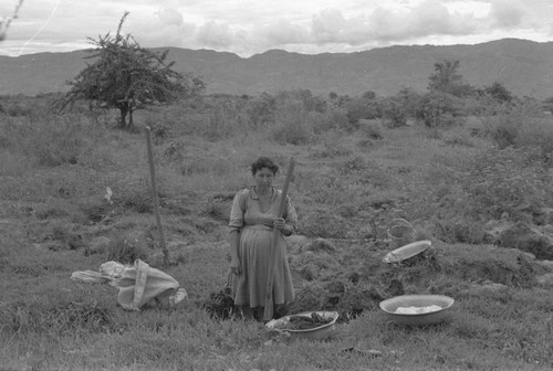 Woman extracting clay, La Chamba, Colombia, 1975