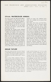 SF Art Association Bulletin - 1946-04 - Vol 12, No 4