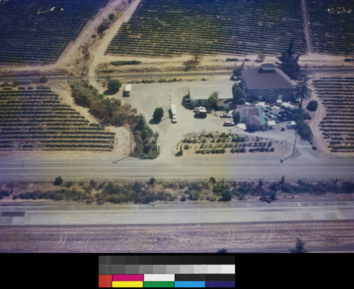 Aerial photograph of Nervo Winery, near Geyserville, Calif. circa 1960's