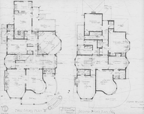 Calisphere blueprints for the dennis and margaret healey residence blueprints for the dennis and margaret healey residence located at 400 washington street petaluma malvernweather Choice Image