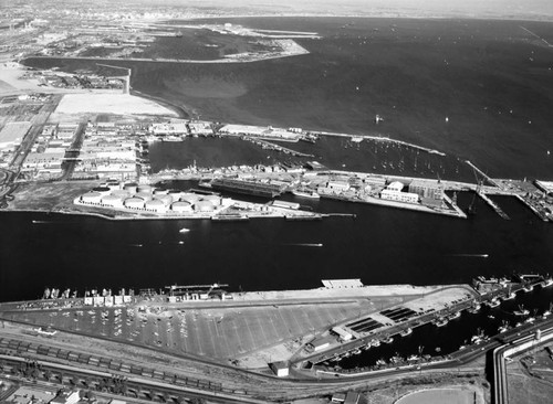 Mobil Oil Co., Los Angeles Harbor, looking northeast