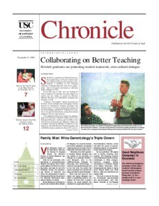 USC chronicle, vol. 18, no. 11 (1998 Nov. 9)