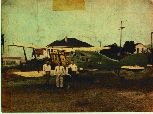 Allinio Aircraft [group with plane at El Cerrito]