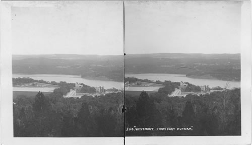 View of Hudson River, West Point. from Fort Putnam. N.Y