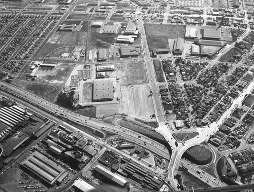 Atlantic Boulevard, Eastern Avenue, Telegraph Road, Central Manufacturing District, looking southwest