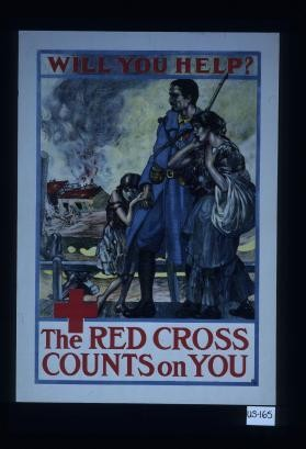 Will you help? The Red Cross counts on you