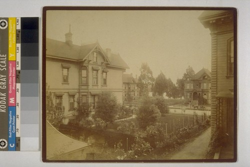 Residence of I.W. Taber. Madison St., Oakland, Cal. [Photograph by Isaiah West Taber.]