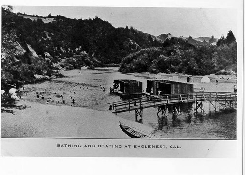 Bathing and boating at Eaglenest, California