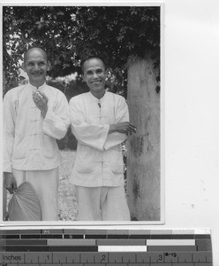 Teachers of Maryknoll priests at Tsiaoliang, China, 1935