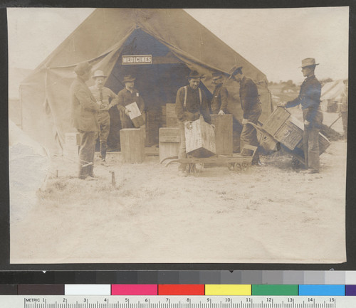 1906. Refugee supplies - Administered by U.S. Army