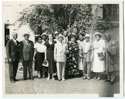 Group photograph of men and women