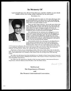 Obituary, Alice Bell Rosenthall-Henry, 1993