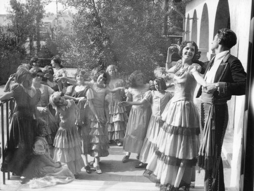 Dancers in a Spanish setting, view 3