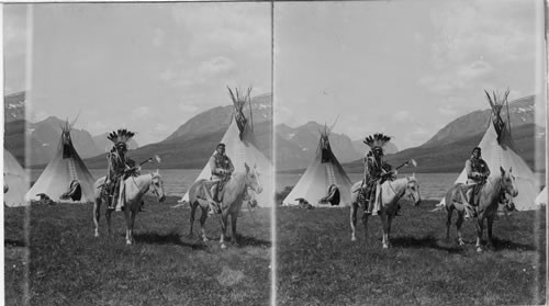 Calisphere: Chief Two Guns White Calf and Companion Mounted