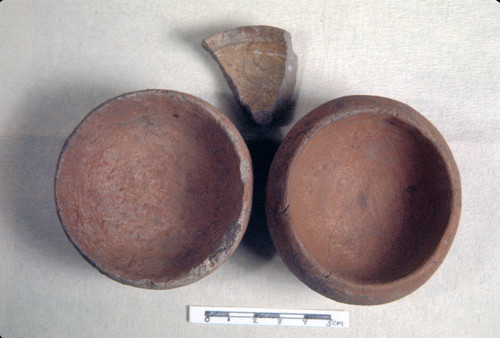 Two pottery bowls