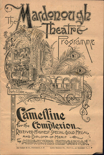 [Cover of Macdonough Theatre programme]