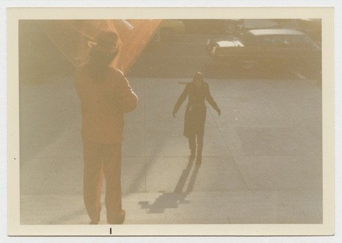 Untitled photograph (Byars at the Met...Invisibly; A Bright Tribute to the Discovery of the Human Spirit)